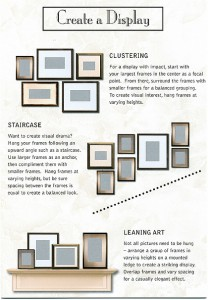 How to hang pictures in a group